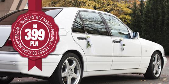 promocja na samochód do ślubu, promocyjna cena na ślub zniżka